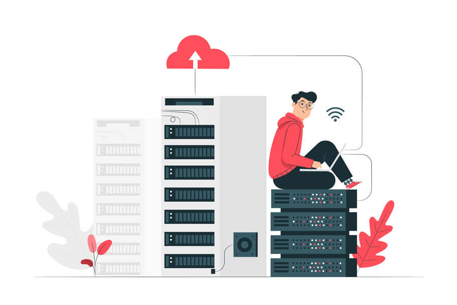 Web hosting illustrated