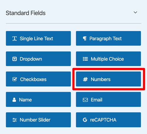 WPForms Numbers field