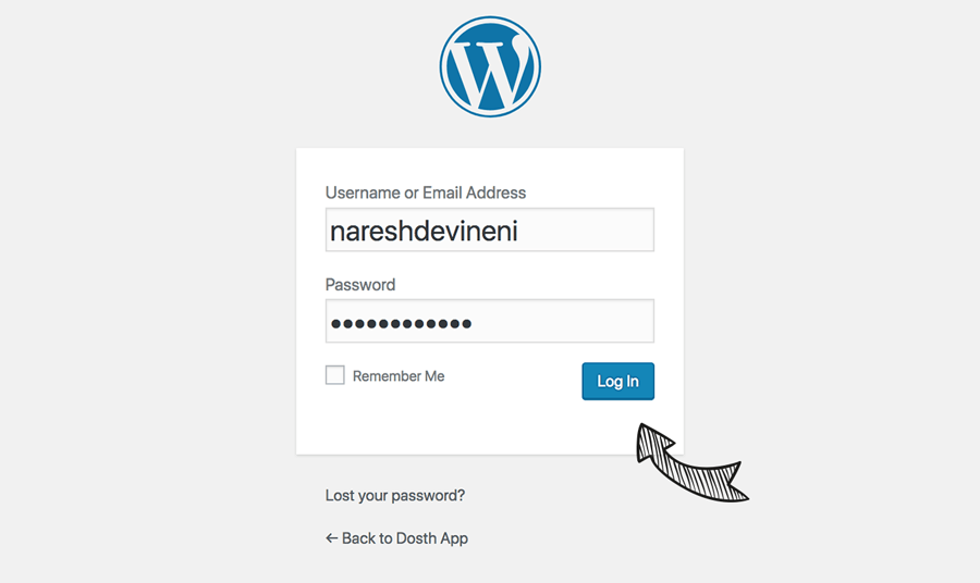 WordPress installation is now successful