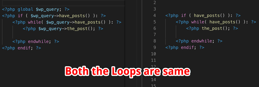 Loop Comparision