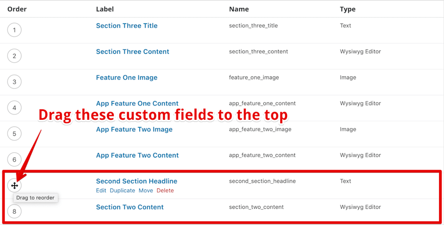 Newly added Custom Fields